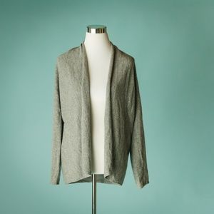 Neiman Marcus Cashmere Collection L Gray Cardigan